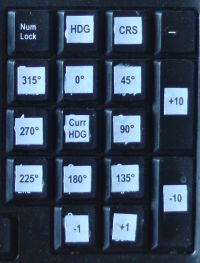 Numpad for course selection